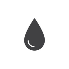 Water drop vector icon. filled flat sign for mobile concept and web design. Drop of water simple solid icon. Symbol, logo illustration. Pixel perfect vector graphics