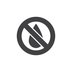 No water vector icon. filled flat sign for mobile concept and web design. Water drop forbidden simple solid icon. Symbol, logo illustration. Pixel perfect vector graphics