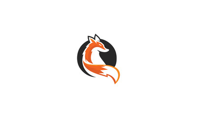 dog, fox, wolf, emblem symbol icon vector logo