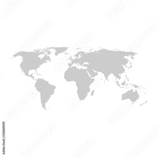 Grey world map vector flat design stock image and royalty free grey world map vector flat design gumiabroncs Gallery