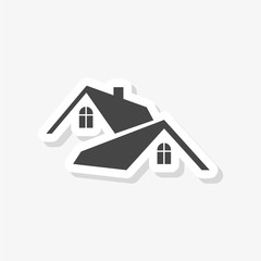 Home roof sticker, Real estate symbol, simple vector icon