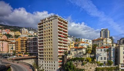 Monaco modern town cityscape.