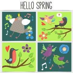 Wall Mural - Flat Spring Time Square Concept