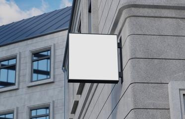 Balank, outdoor signage, signboard mockup, sign. 3d rendering