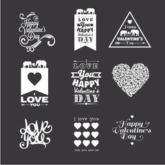 I love You. Happy Valentine's Day lettering, typography design elements.