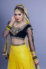 Portrait of beautiful indian girl