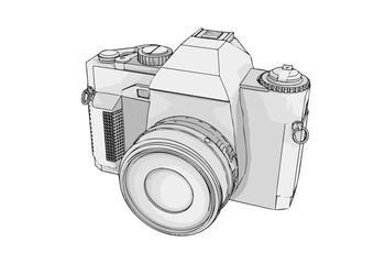 sketch of camera vector