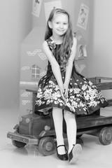 Beautiful little girl 5-6 years.