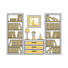 Interior home design vector  illustration.