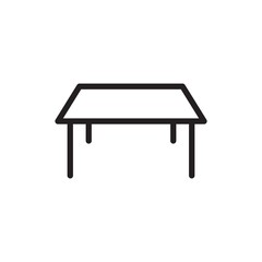 square table outline vector icon