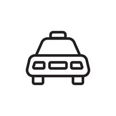 taxi, cab outline vector icon