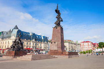 Central square in Vladivostok
