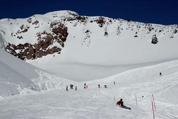 Slope on the skiing resort Elbrus, Russia