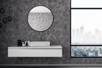 Wall Mural - Grey bathroom interior