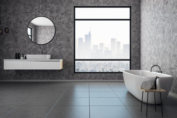 Contemporary bathroom interior