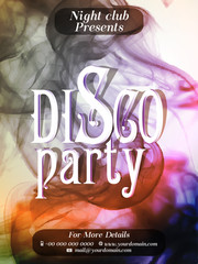beautiful party flyers or poster for Disco Party with creative design illustration.
