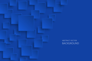 Vector dark blue modern abstract background