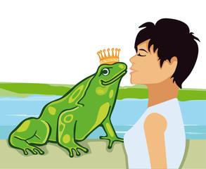 Küss den Froschkönig illustration