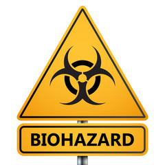 Biohazard sign isolated on white, vector illustration