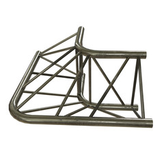 Metal truss girder element. 3d render isolated on white