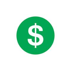 Dollar icon, money symbol, vector illustration flat design graphic