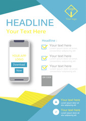 Poster flyer pamphlet brochure cover design layout  for application template download in A4 size