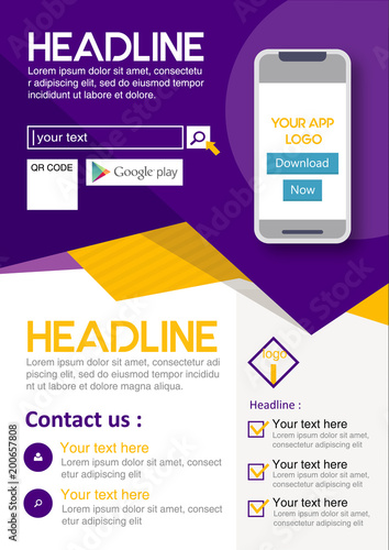 poster flyer pamphlet brochure cover design layout for application