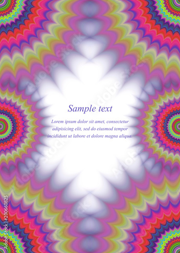colorful page border. Abstract colorful page border fractal ornament design  Stock image