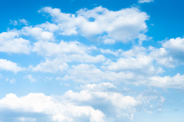 background blue sky with white clouds, beautiful sky background