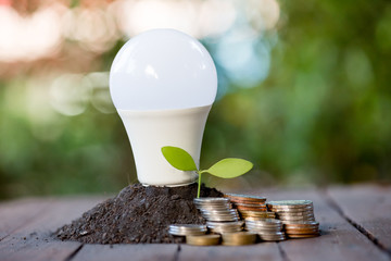 Energy saving LED BULB ECO With the environment