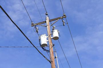 Utility Pole & distribution transformer