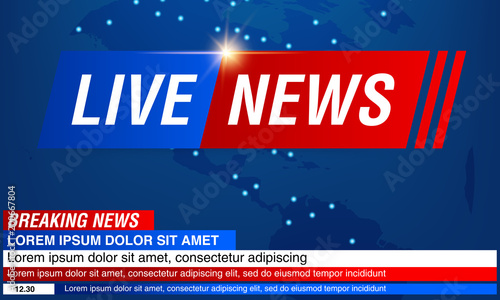Breaking news background