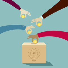 Investing into idea: Crowdfunding