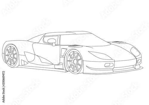 Sport car 3d blueprint isolated stock photo and royalty free sport car 3d blueprint isolated malvernweather Image collections