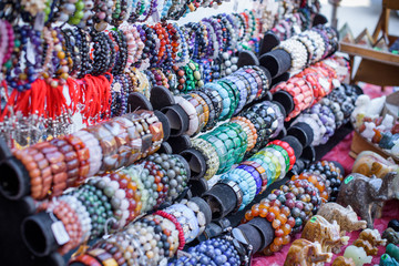 Handmade crafts in the bazaar in the city
