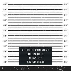 Police mugshot lineup board