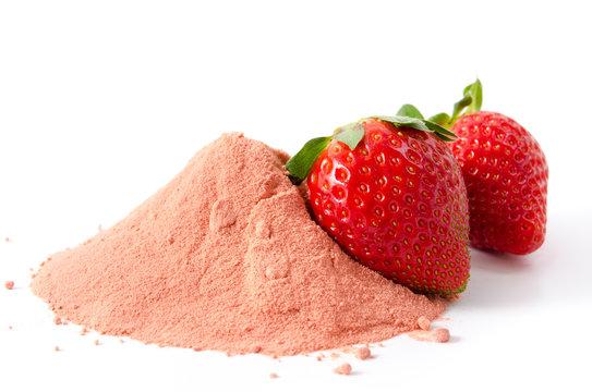 Erdbeerfruchtpulver
