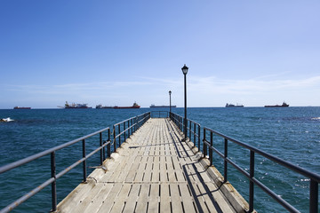 Pier on Mediterranean sea at Limassol