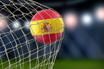 Spanish soccerball in net