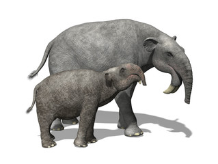 Deinotherium with Young
