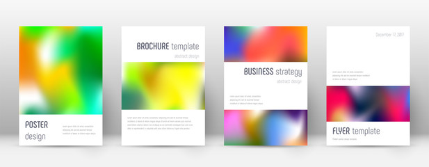 Flyer layout. Minimalistic actual template for Brochure, Annual Report, Magazine, Poster, Corporate Presentation, Portfolio, Flyer. Astonishing colorful cover page.