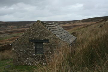 Abandoned farm building on the Yorkshire Moors, UK