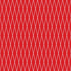 Seamless red diamond-shaped rhombus checked pattern texture
