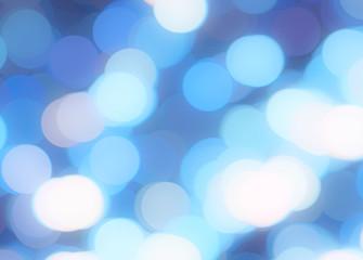 Blue bokeh background. Gentle luminous lilac blue defocused backdrop