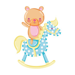 bear teddy ride rocking horse