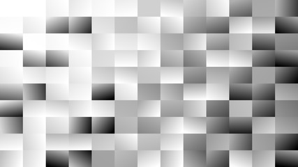 Abstract geometrical rectangle background - gradient vector mosaic graphic design from grey rectangles