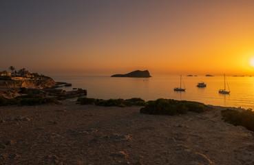 Atardecer en Cala Comte, Ibiza, Spain