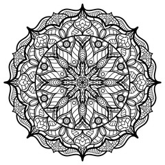 Mandalas for coloring book. Decorative round ornaments.
