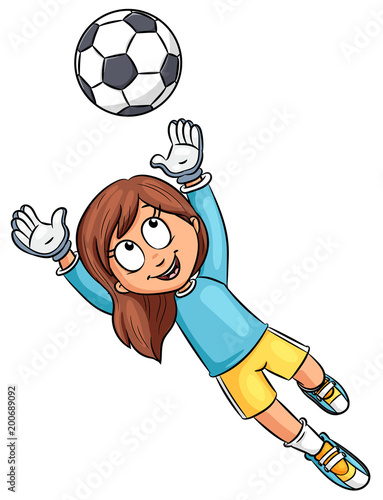 Madchen Mit Fussball Vektor Illustration Stock Image And