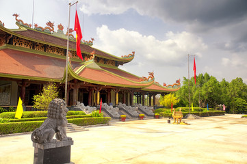 buddhist temple within ben duoc scenic area south vietnam